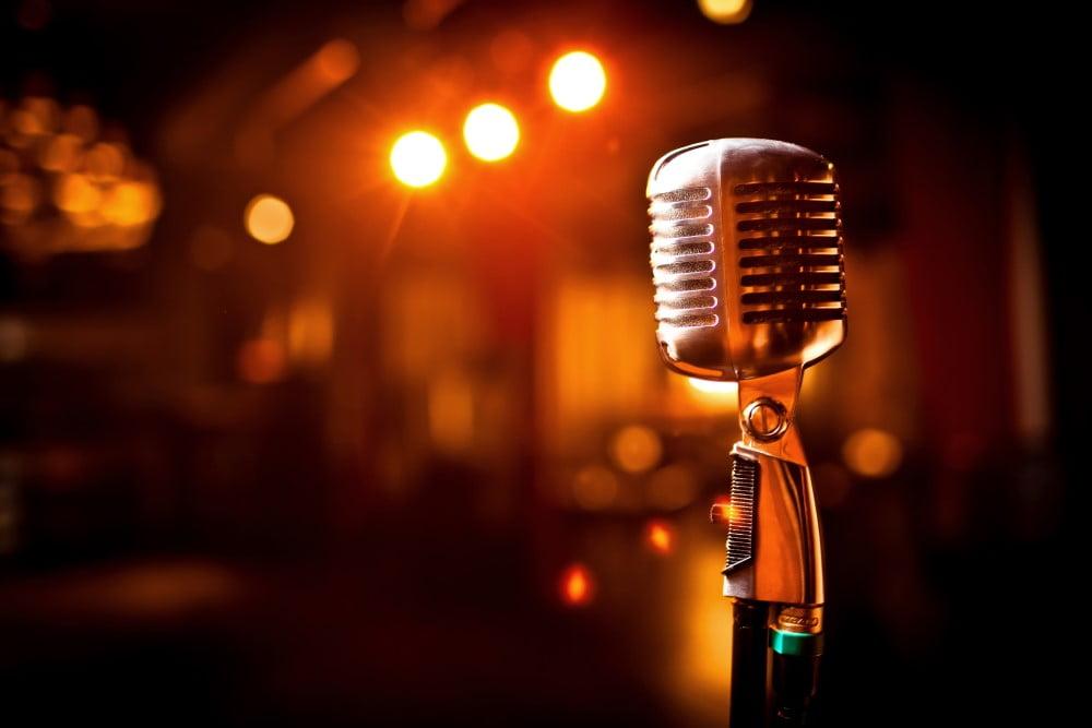 Mikrofon på scene